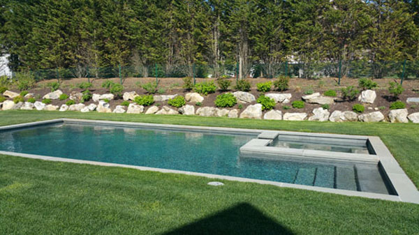 Long island pool patios poolscapes poolside stone patios for Pool design hamptons